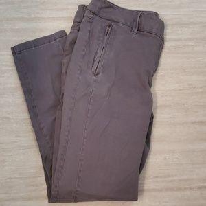 LOFT grey khaki pants